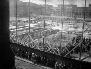 budowa nowego gmachu muzealnego namoltkeplatz obecnie pl.jana iii sobieskiego pozne lato 1929 r